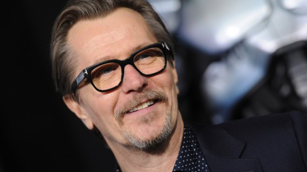 HOLLYWOOD, CA - FEBRUARY 10:  Actor Gary Oldman arrives at the Los Angeles premiere of 'RoboCop' at TCL Chinese Theatre on February 10, 2014 in Hollywood, California.  (Photo by Axelle/Bauer-Griffin/FilmMagic)